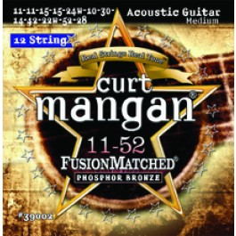 Curt Mangan 11-52 12 String Fusion Matched Phosphor Bronze