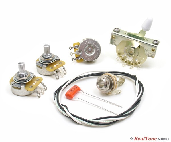 Wiring Upgrade Kit For Strat U00ae - Left Hand - Strat Style