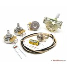 Premium Wiring Upgrade Kit for Strat Guitars with Treble Bleed Mod